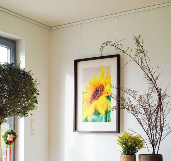 Beispiel für Nielsen Galerieschienen-Verwendung für Bilder