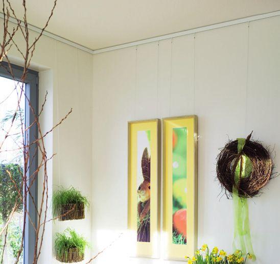 Beispiel für Nielsen Galerieschienen-Verwendung
